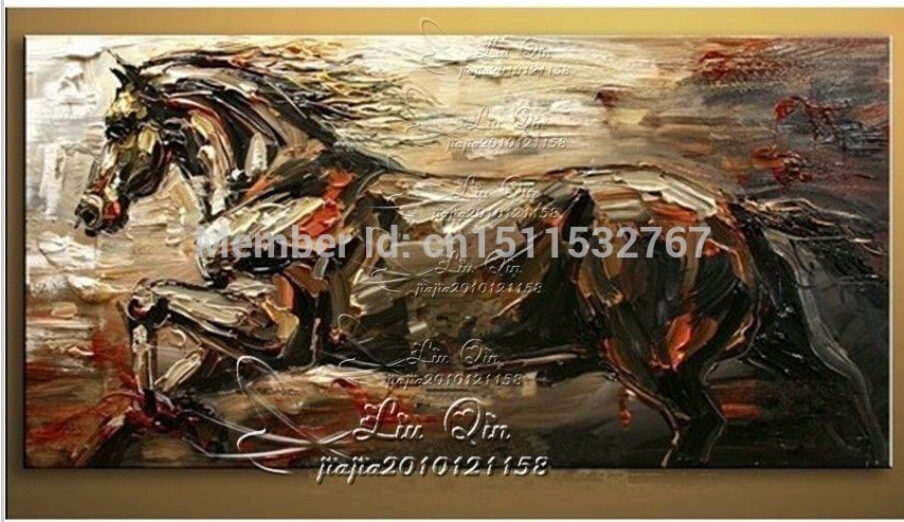 "Pure Hand-painted Canvas Oil Painting /NO Frame ( 24""X48"" ) YH68R(China (Mainland))"