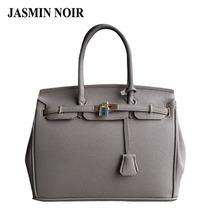 Brand designer High quality PU leather handbag with gold lock scarf 30cm 35cm woman bags fashion 2015 designers bolsas femininas(China (Mainland))