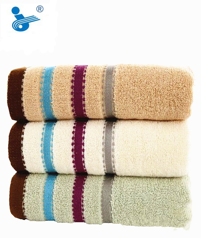 2016 Hot Sales 2 pcs Delicate Luxury Jacquard Discontinuity Cotton Towel 33x70cm Hand Face Bath Towel(China (Mainland))