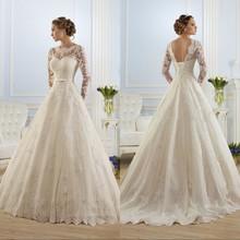 Buy Vestidos de Noiva Ball Gown Wedding Dress Long Sleeves Wedding Dresses 2016 Pearls Tulle Vestido de Noiva Casamento Mariage Boda for $103.60 in AliExpress store
