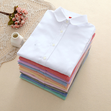 Buy EYM Brand New Women Blouses Shirts Oxford Cotton Long Sleeve Ladies White Casual Shirt Plus Size Blouses Female Clothing Tops for $8.69 in AliExpress store