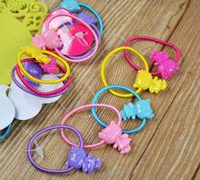 20 Pcs Set Hairband Kids Elastic Hair bands Tie Elastic Children Rubber Carton Round Ball High