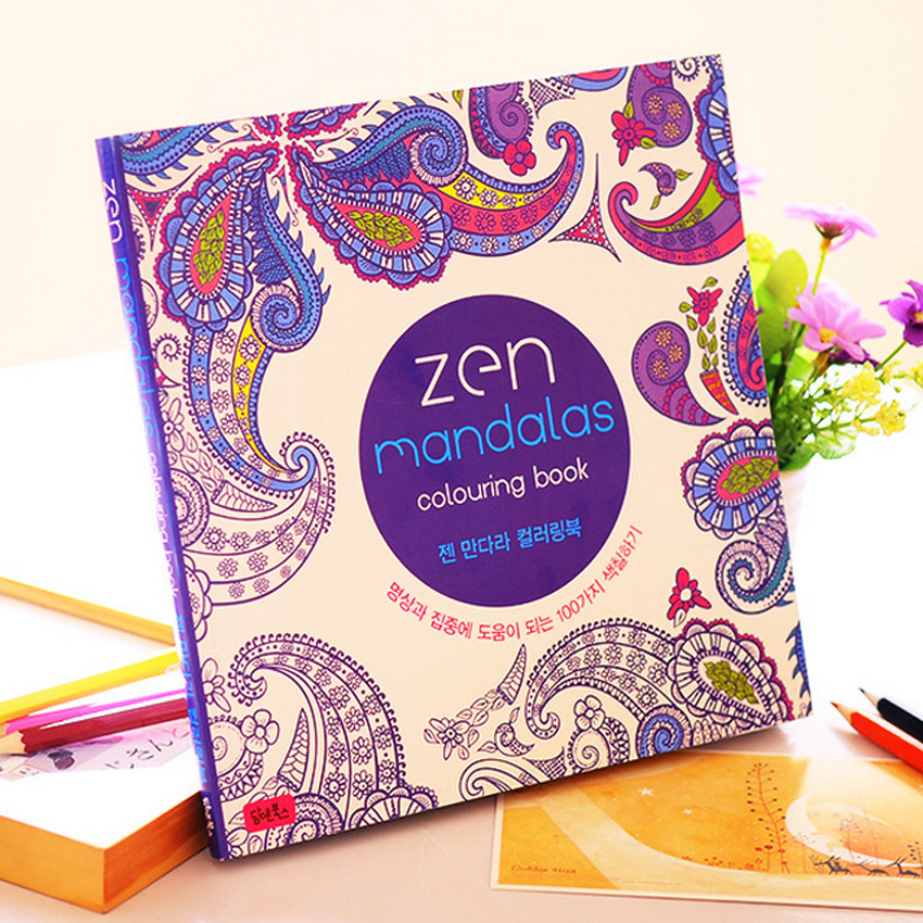Гаджет  Mandalas Coloring Book For Adults Children Relieve Stress Kill Time Secret Garden art Coloring books None Офисные и Школьные принадлежности