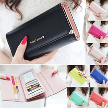 2015 HOT sale Fashion Lady Women popular Purse Long Wallet Bags PU Handbags Card Holder Birthday party for a Gift N682