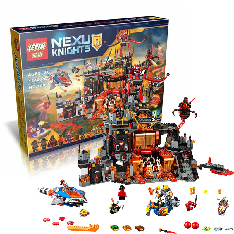 LEPIN 14019 Nexoe Knights Volcano Lair castle Model building kits compatible lego city 3D blocks Educational toys  -  JENS store store