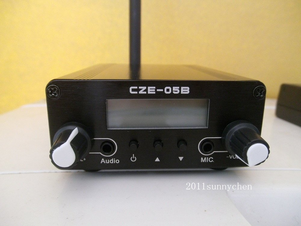0.5W CZH-05B Stereo PLL FM Radio Broadcast Station Transmitter + Antenna +Power(China (Mainland))