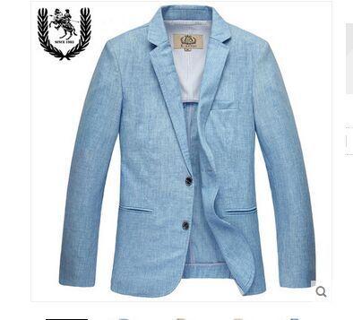 spring and summer linen Two Button suit men's blazer high quality obese fashion outerwear plus size S M L XL XXL XXXL 4XL 5XL