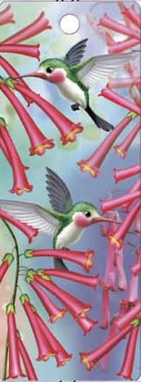 (60 Pieces/Lot,30 Designs) 3D Lenticular Bookmark Bird&Flower(China (Mainland))