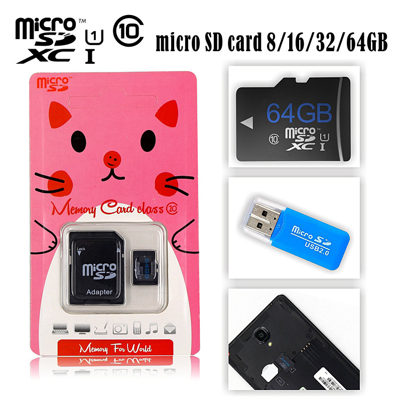 Hot sale pink pig 32GB Memory card 32gb micro sd card 32gb class 10 memory card new 2015 usb gift adapter(China (Mainland))