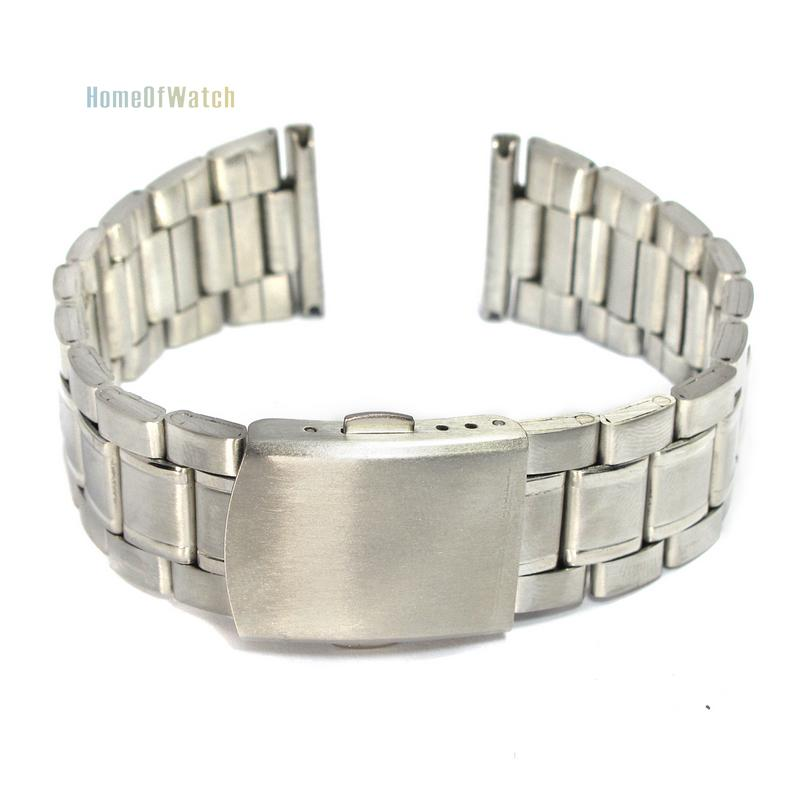 20mm Stainless Steel Polished Metal Watch Bracelet Straight End Solid Links(NBW0BD8047-SI320)(China (Mainland))