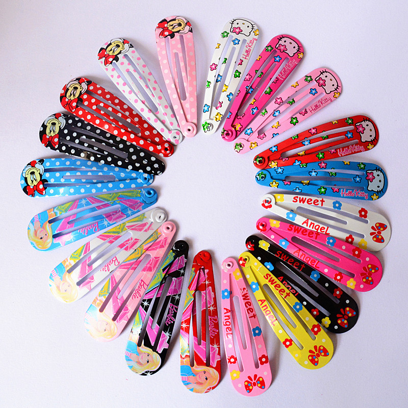 Wholesale 10 PCS per Lot Carton Candy Color Baby Girls Hairpin 5cm BB Clips Snap Band Hairpins Toddler Kids Hair Accessories(China (Mainland))