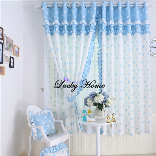 Curtains Sheer Kids Curtains Split Lotus Leaf Edge