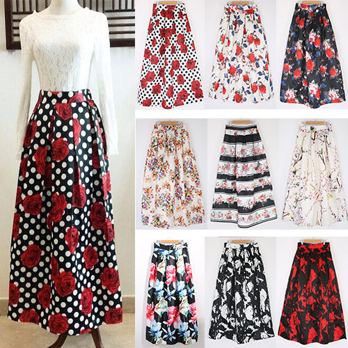 Womens Floral Skirts