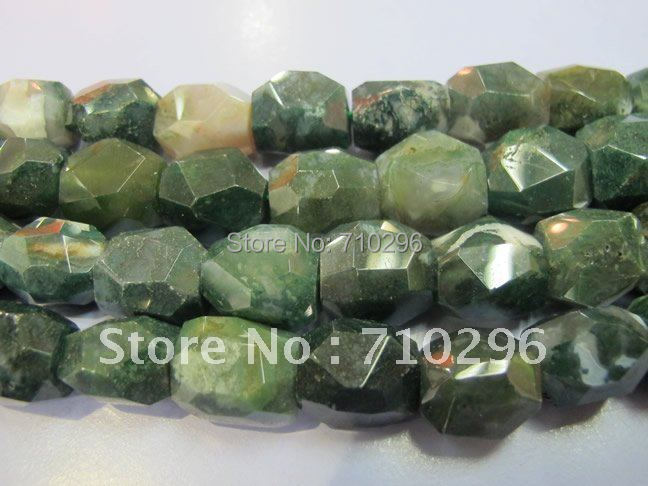 Natural Jewelry Beads Indian Agate 13x18 mm Faceted Nugget Gemstone Beads.10 string/lot 15.5''/string.Free shipping