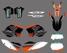 0282 NEW TEAM GRAPHICS WITH MATCHING BACKGROUNDS FIT FOR KTM SX XC XC-W EXC Series 2008 2009 2010 2011 - Cnc Motocross Graphics Parts store