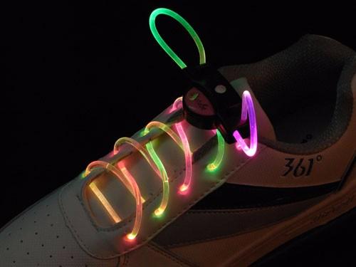 1 Pair led Glow shoe laces Luminous  Light up Shoelaces 2016 lacet Strings Lock Rope Cordones Zapatilla Coloured Lacet Pour