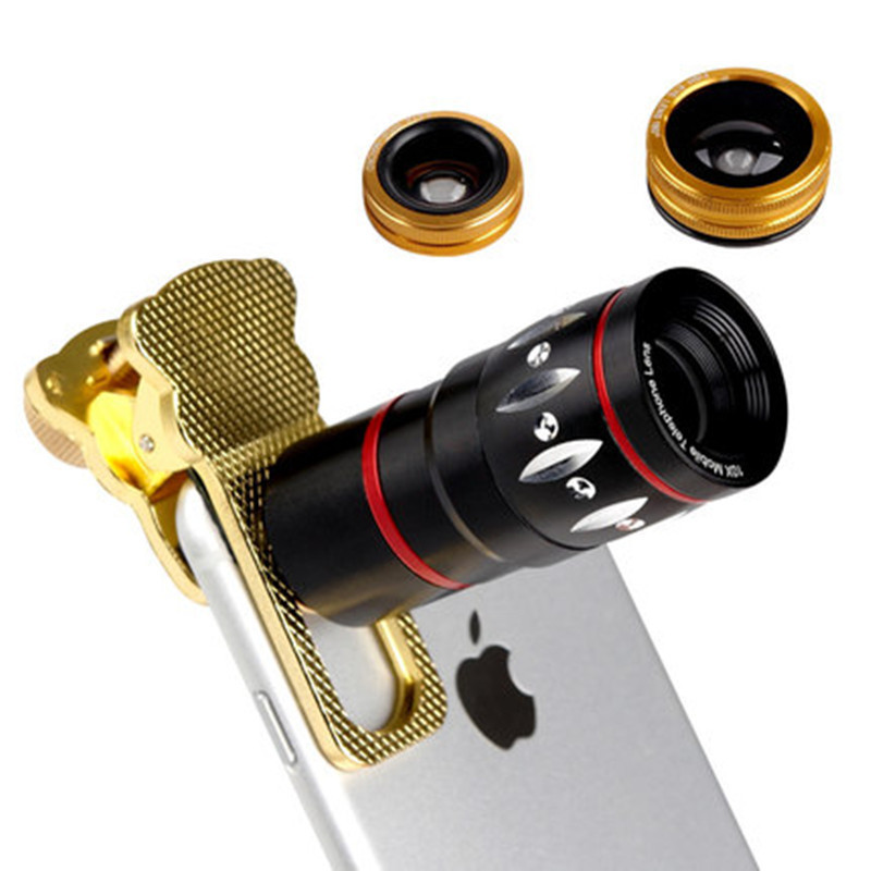Universal 10X Optical Zoom Telescope Fish Eye Macro Wide Angle Camera Mobile Phone Lens Iphone 4S 5 5S 6 Plus Samsung S4 - Purchasing in one's store