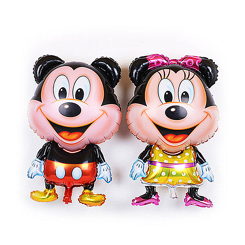 15pcs/lot Large standing Mickey Minnie Mouse party foil balloons kids Birthday gifts festival decoration holiday supplies <br>