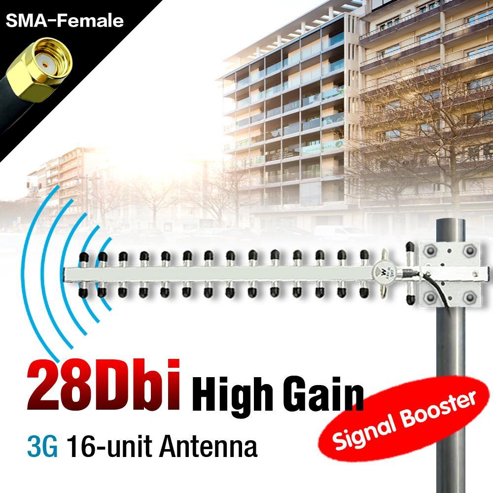 3G OUTDOOR DIRECTIONAL YAGI ANTENNA 28 DBI HIGH GAIN BROADBAND RP SMA CONNECTOR EL3490(China (Mainland))