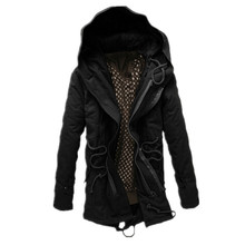 2015 winter coat men Britain style new warm winter jacket thickening loose long cotton padded coat