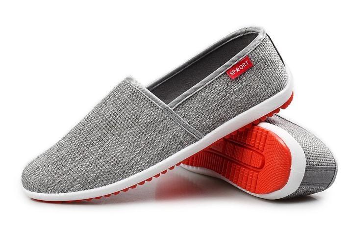 Весна и лето мужской обуви ткани обувь на плоской подошве удобные мокасины простой дышащие мужчины квартиры P5c80