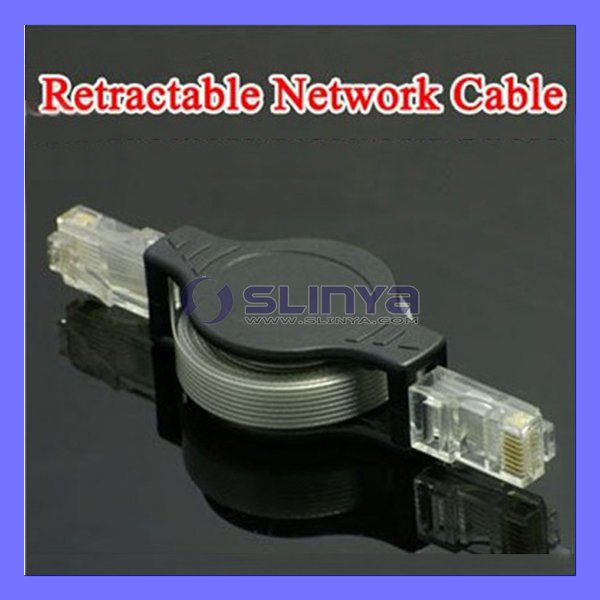 1.5M Retractable lan Cable RJ45 Ethernet Network Cable(China (Mainland))