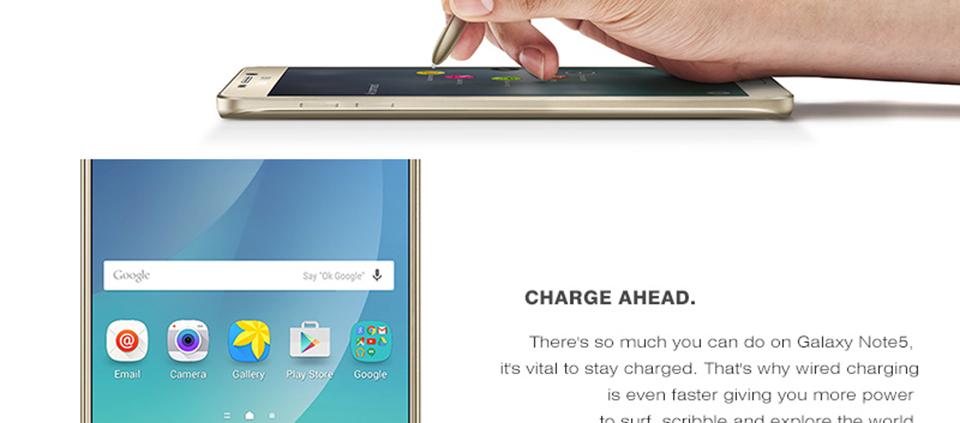 "Original Unlocked Samsung Galaxy Note 5 Mobile Phone 4G LTE 5.7"" 16MP Octa Core 4GB RAM 32GB ROM NFC Smartphone"