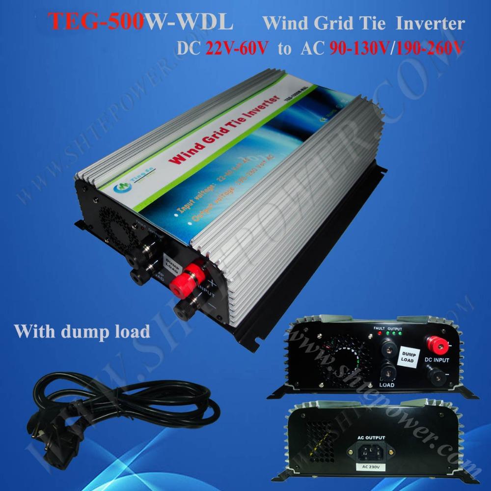 dc48v ac220v pure sine wave inverter 500w grid tie inverter for wind turbine(China (Mainland))