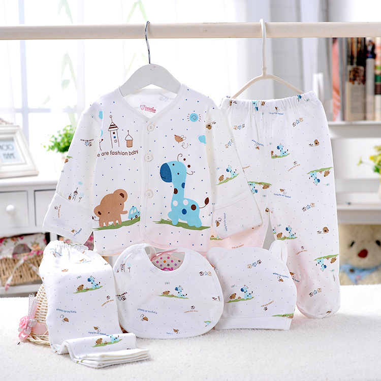 5pcs/set Newborn gift Baby Clothing Set for 0-6M Brand kids Boy/Girl Clothes 100% Cotton long sleeve and 2pcs/set baby Underwear(China (Mainland))