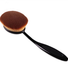 2016 New Big Oval Tooth Style Brush Foundation Makeup Air Brush Loose powder Synthetic Hair Brush For Natural Makeup Big One(China (Mainland))