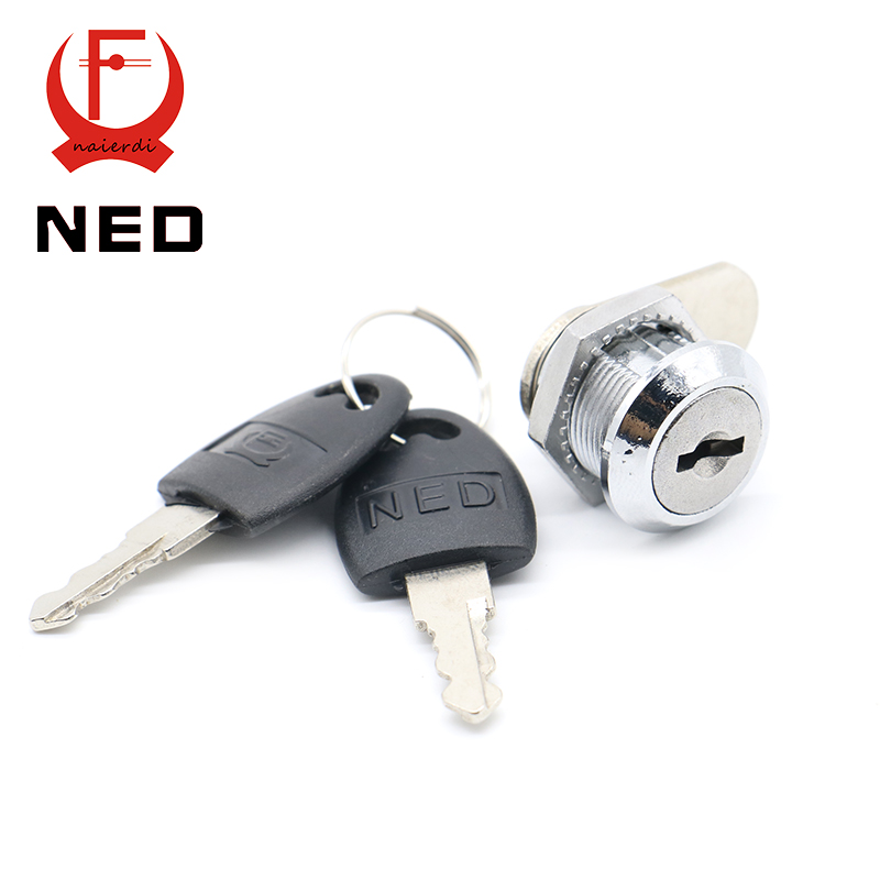 NED103 Series Cam Cylinder Locks Door Cabinet Mailbox Drawer Cupboard Locker Security Furniture Locks With Plastic Keys Hardware(China (Mainland))