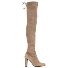 Mới của họ over the knee khởi động phụ nữ giày mùa đông kéo dài boots giữ ấm cao gót giày giày dài(China)