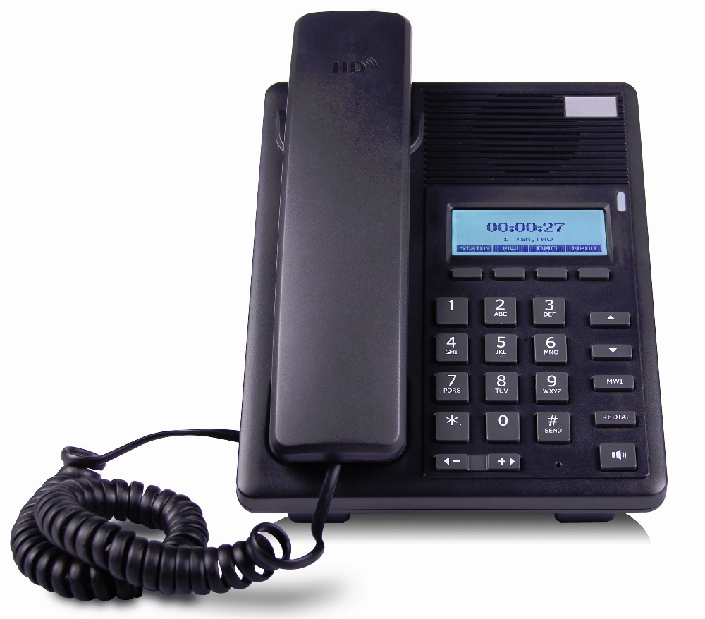 Low Cost Office IP Phone, VOIP Telephone With 2 Lines Compatible With Asterisk(China (Mainland))