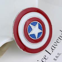 The Avengers 4 Superhero Captain Marvel Carol Danvers Spilli Spilla per le Donne Degli Uomini Ventole Dei Monili Souvenir(China)