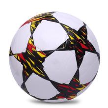 Затемняемые цвет обучение мячи официальный размер 5 высокое качество пу футбольный мяч