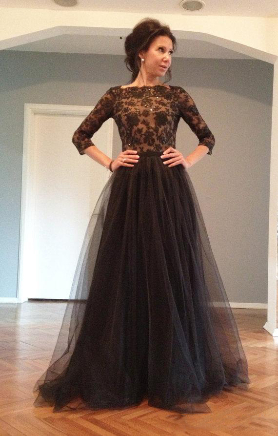 Robe de soiree pour mariage manche longue