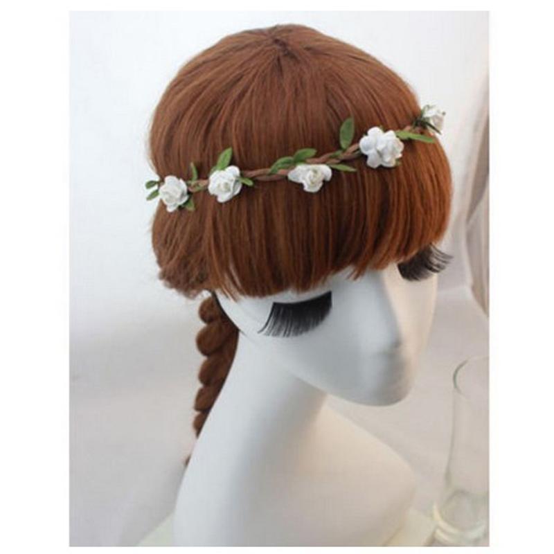 Women Bohemia Beach Flower Hair Bands Headband Hair Accessory Headwear Hippie Love Garland Festival Wedding Hair Wreath 360500(China (Mainland))