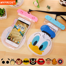 Buy Waterproof Mobile Phone Bags Pouch Cartoon Case Dry New Cover iPhone 7 6 SE LG Samsung Galaxy S7 Xiaomi Underwater Cases for $2.99 in AliExpress store