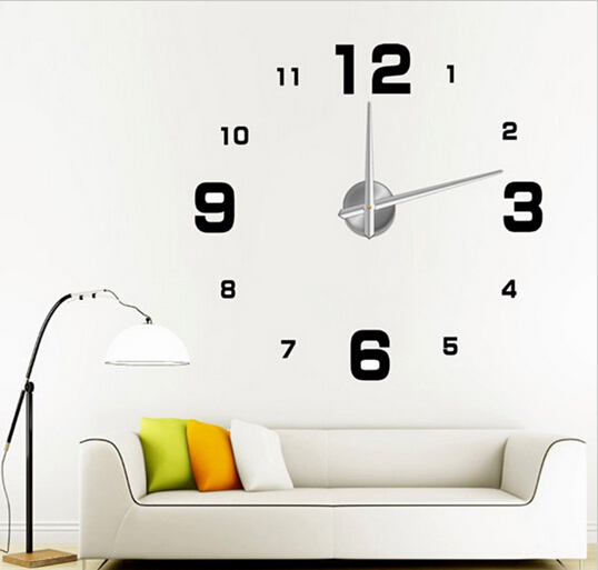 Simple Design Large Size Luxury DIY 3D Wall Clocks Fashion House Decoration Digital Watches - Hairmore store