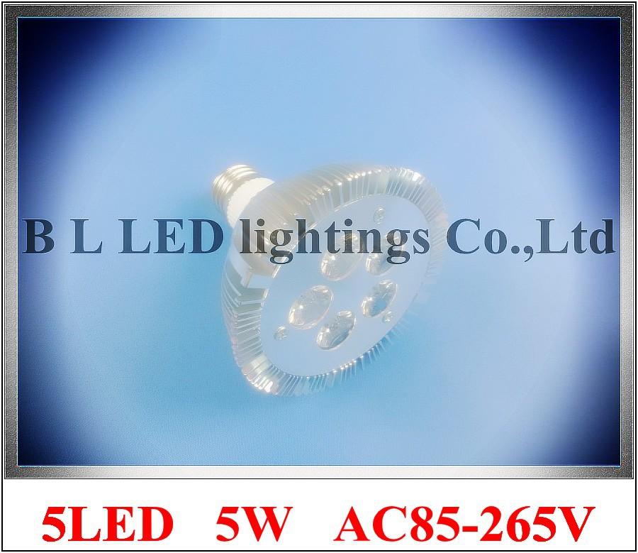 lathe profile aluminum LED spot light lamp spotlight LED bulb par light parlight E27 AC85-265V 5LED 5W 400lm high bright(China (Mainland))