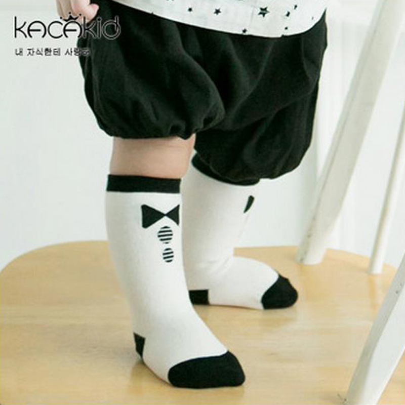 Cotton newborn unisex Toddler knee high socks Baby Boy Girl Bow tie Socks Cartoon Leg Warmers for girls kids socks anti slip(China (Mainland))