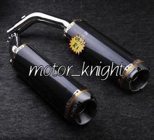 Motorcycle Carbon Fiber Silencer Exhaust Muffler For Yamaha 2009-2012 YZF R1(China (Mainland))