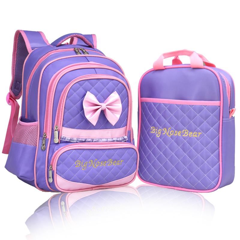 2015 School Backpacks Waterproof Children Bags Girls Boys Cute Bow Kids Mochila Escolar Primary - Fashion Shopping Living store