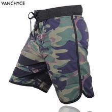 VANCHYCE verano Shorts hombres junta marca Shorts hombres playa Shorts hombres Bermudas corto plata de secado rápido Boardshorts de los hombres(China)