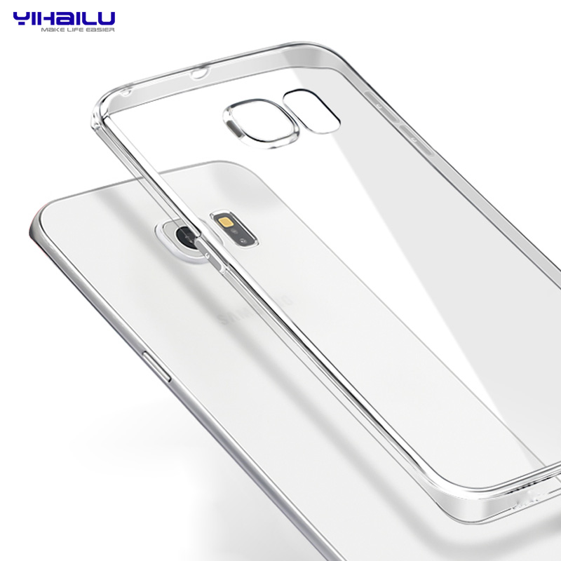 Yihailu TPU Case for Samsung Galaxy S6 edge Crystal Clear Transparent Soft Silicon Ultra Thin Slim Cover for Samsung S6 edge(China (Mainland))