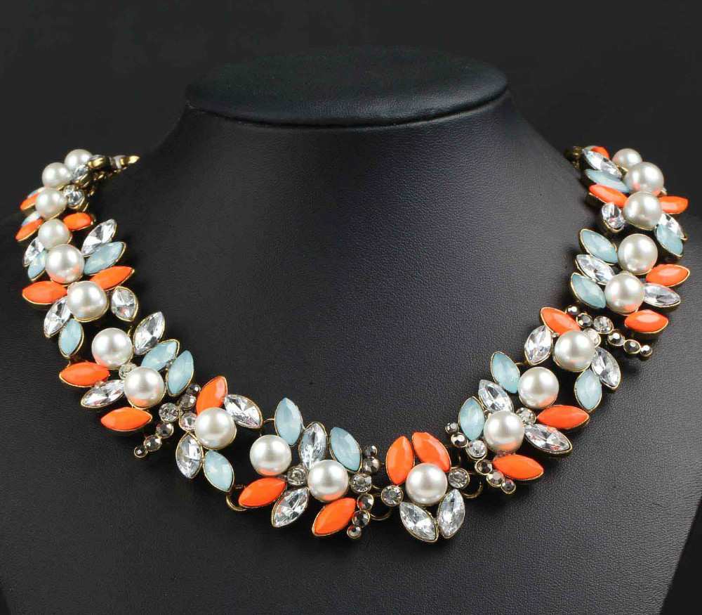 Newest festive Gorgeous Fashion Necklace Jewelry crystal ra Department Statement Necklace Women Choker Necklaces Pendants q717(China (Mainland))