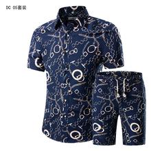 2016 hohe Neue Qualität kurzarm Shirts Männer Mode Kleid männer hemd Sommer Slim Fit Mens Chinesischen Stil Blume Hemd 4XL 5XL(China (Mainland))