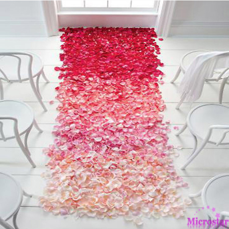 500pcs Silk Rose Petals Table Wedding Events Decoration Crafts Artificial Flowers Engagement Celebra