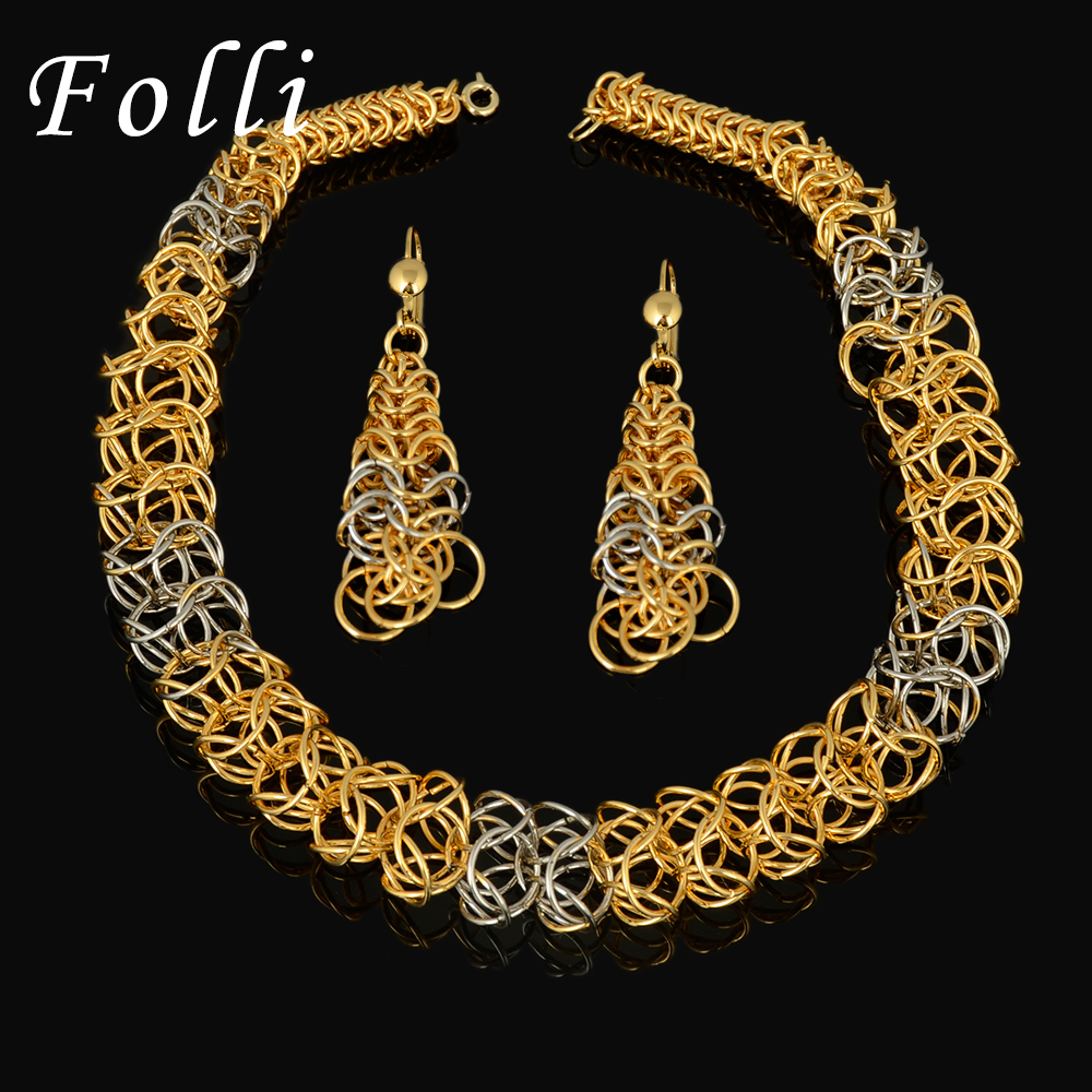 2016 new high quality italy 750 real gold jewelry sets