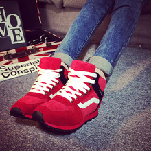 Hot sale The spring and autumn period and the leisure shoes High help Color matching lace